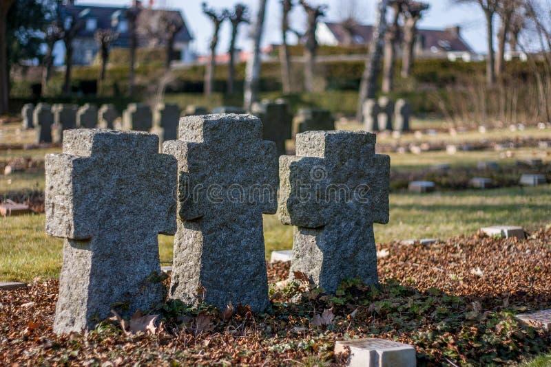 Cimitero militare tedesco fotografia stock