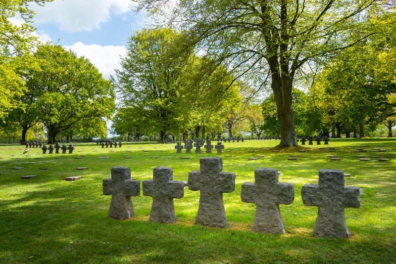 Cimitero militare tedesco di Cambe della La fotografie stock libere da diritti