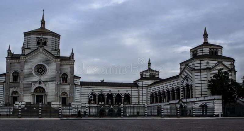 Cimitero Monumentale, Milano, Italia fotografie stock libere da diritti