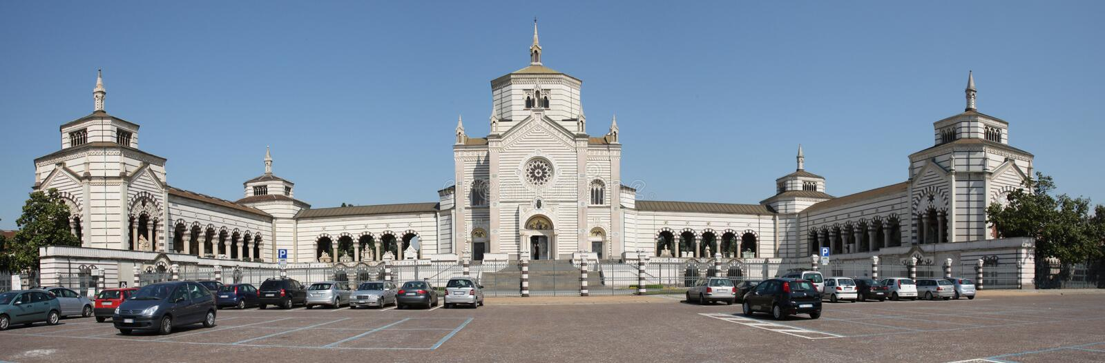 Cimitero Monumentale Milano Panorama picture royalty free stock photography