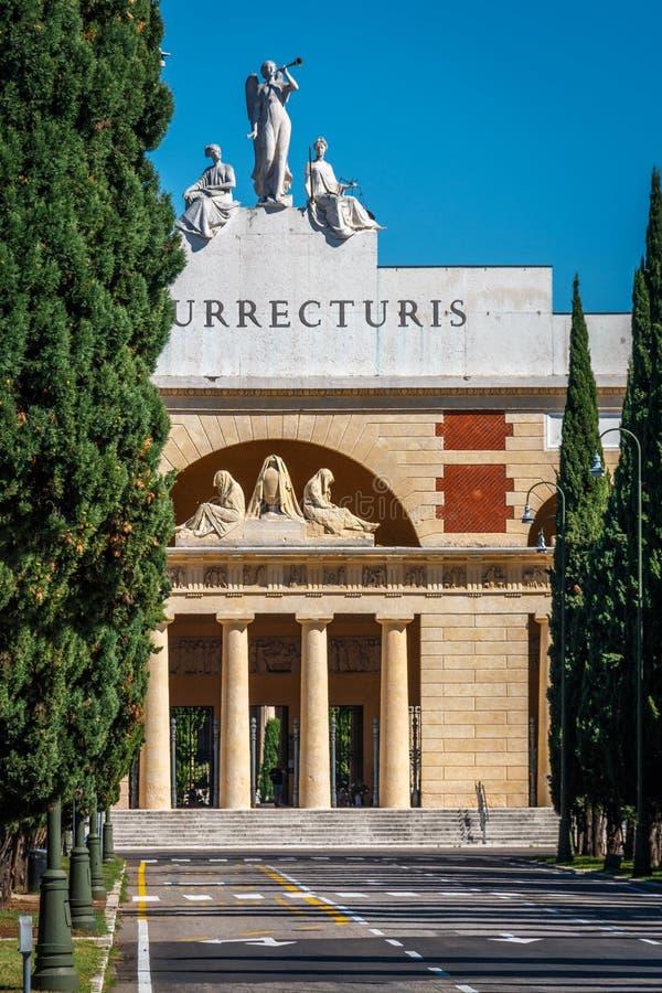 Cimitero Monumentale, cimitero, Verona, Veneto, Italia immagini stock libere da diritti
