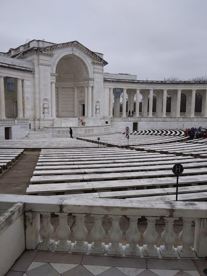 Cimitero nazionale di Arlington a Arlington la Virginia immagine stock libera da diritti