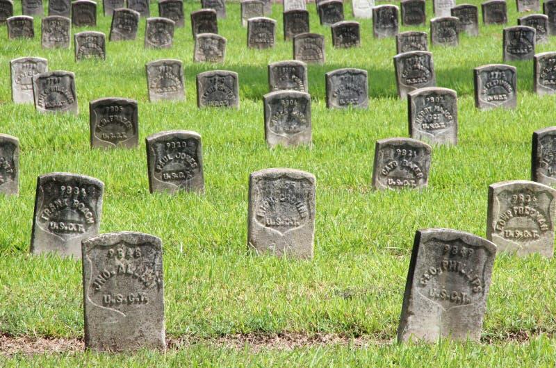 Cimitero nazionale di Chalmette fotografia stock