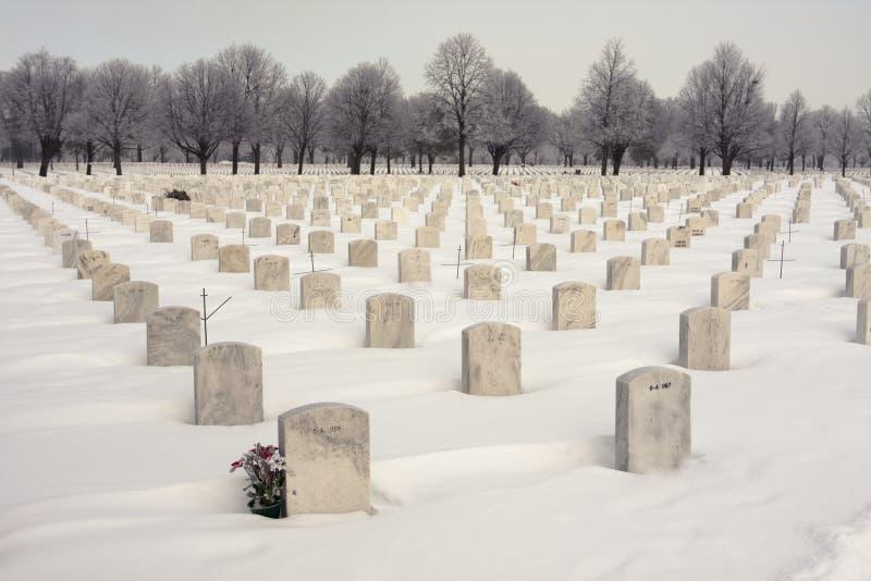 Cimitero nazionale WW2 fotografia stock