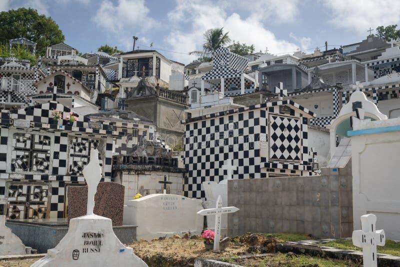 Cimitero nel ` UCE, Guadalupa di Morne-A-l della città fotografia stock