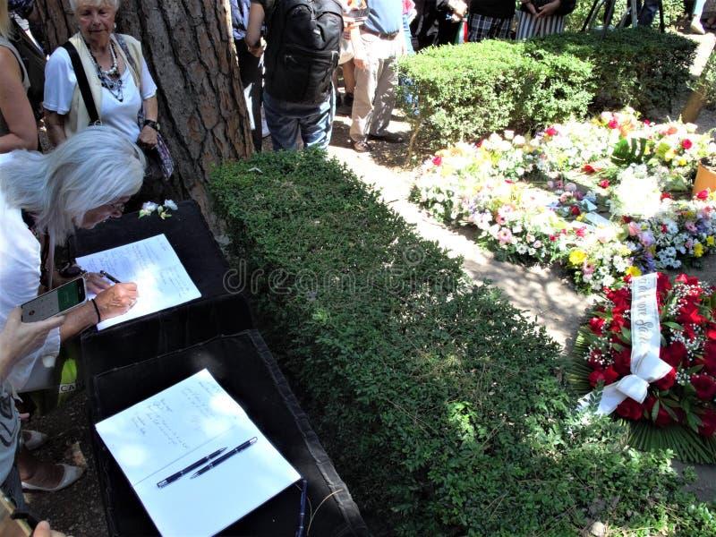 Cimitero non cattolico di Roma fotografie stock