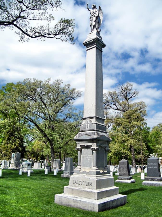 Cimitero Robert Watkins Memorial April 2010 di Arlington immagini stock