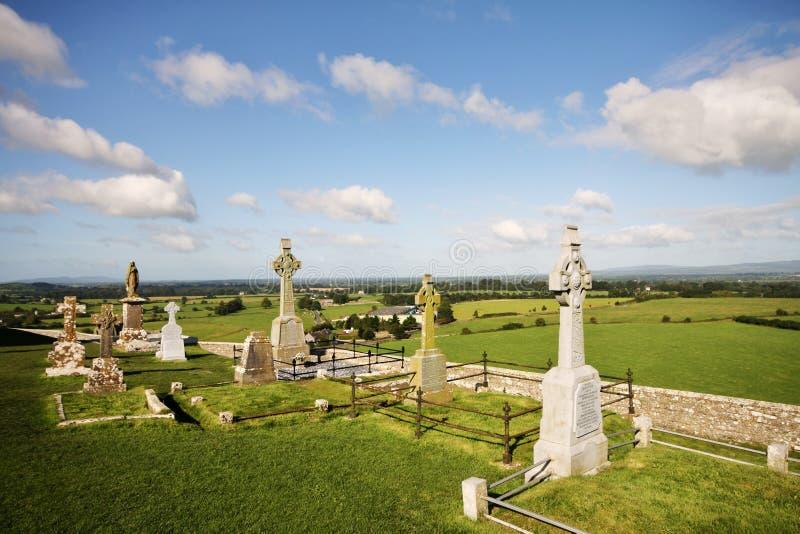 Cimitero a roccia di Cashel, Irlanda fotografia stock libera da diritti