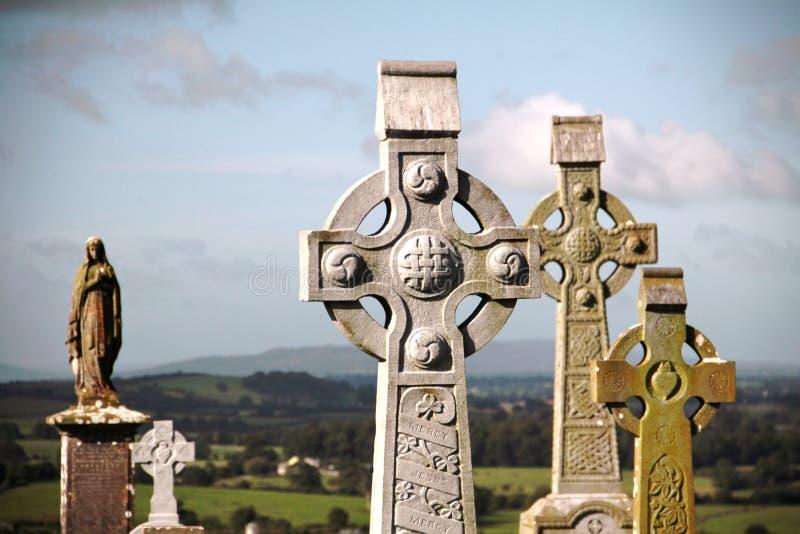 Cimitero a roccia di Cashel, Irlanda fotografie stock