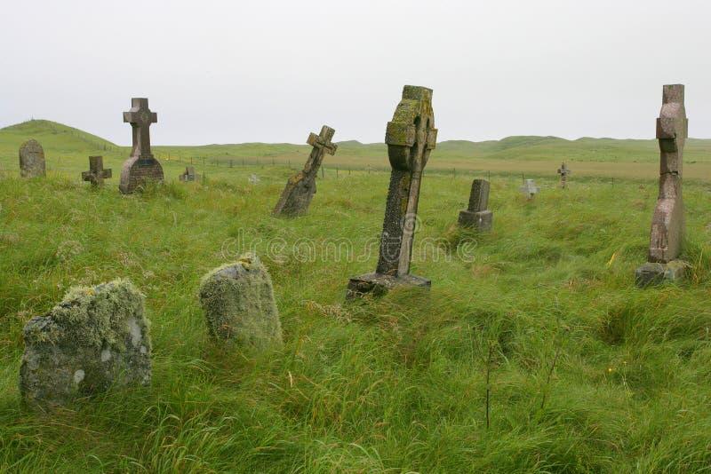 Cimitero scozzese fotografia stock