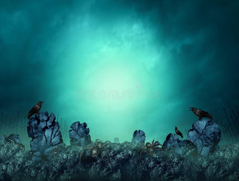 Cimitero spettrale royalty illustrazione gratis