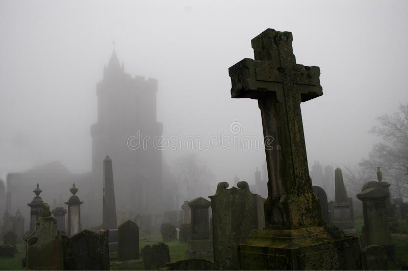 Cimitero spettrale immagini stock
