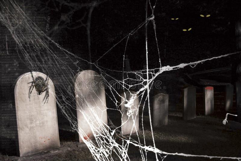 Cimitero spettrale di Halloween royalty illustrazione gratis