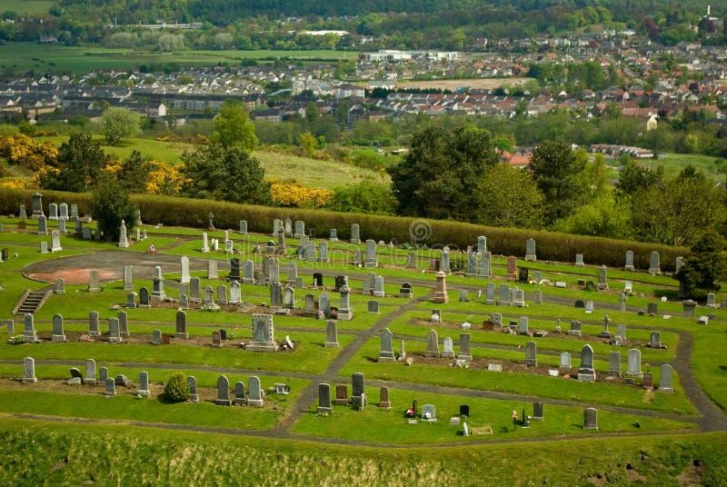 Cimitero a Stirling fotografie stock