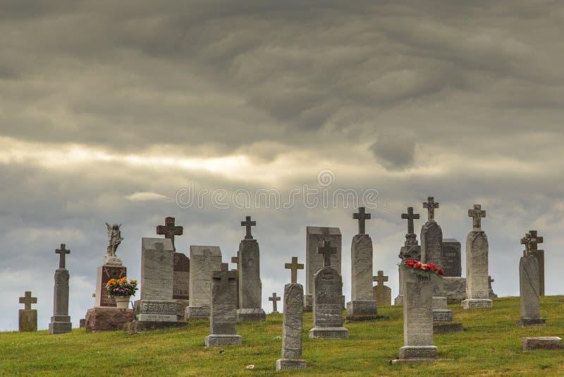 Cimitero storico a Lussemburgo Wisconsin fotografie stock