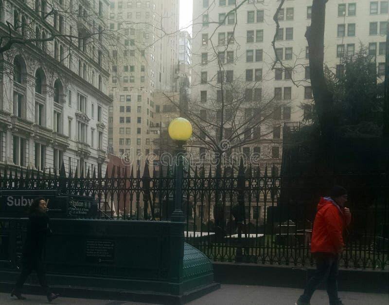 Cimitero su Wall Street fotografia stock libera da diritti