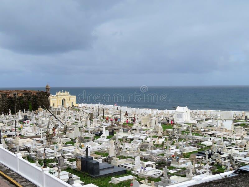 Cimitero a vecchio San Juan, Porto Rico fotografia stock libera da diritti