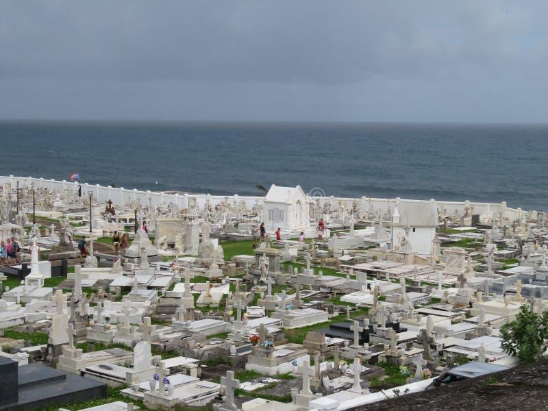 Cimitero a vecchio San Juan, Porto Rico immagine stock