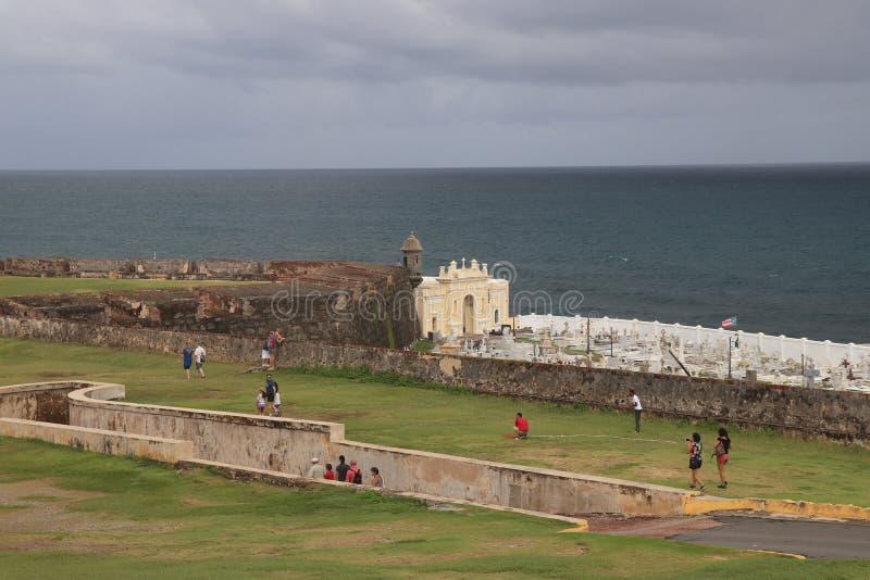 Cimitero a vecchio San Juan, Porto Rico fotografie stock libere da diritti