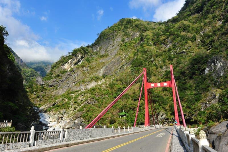 Cimu Bridge In Taroko National Park Stock Photography