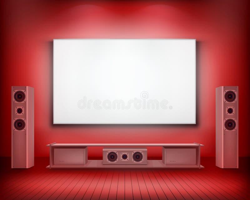 Cinéma à la maison Écran abouti Illustration de vecteur illustration stock