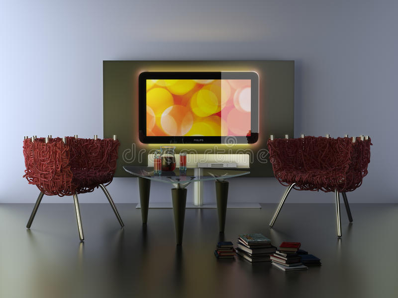 Cinéma à la maison illustration de vecteur