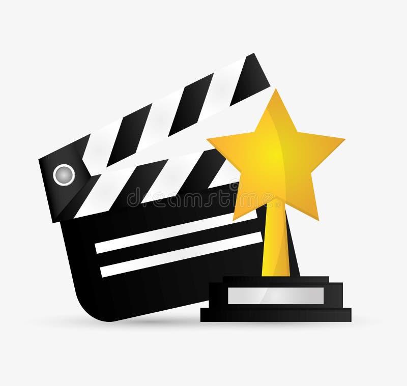 Cinéma de bardeau et conception de film illustration stock