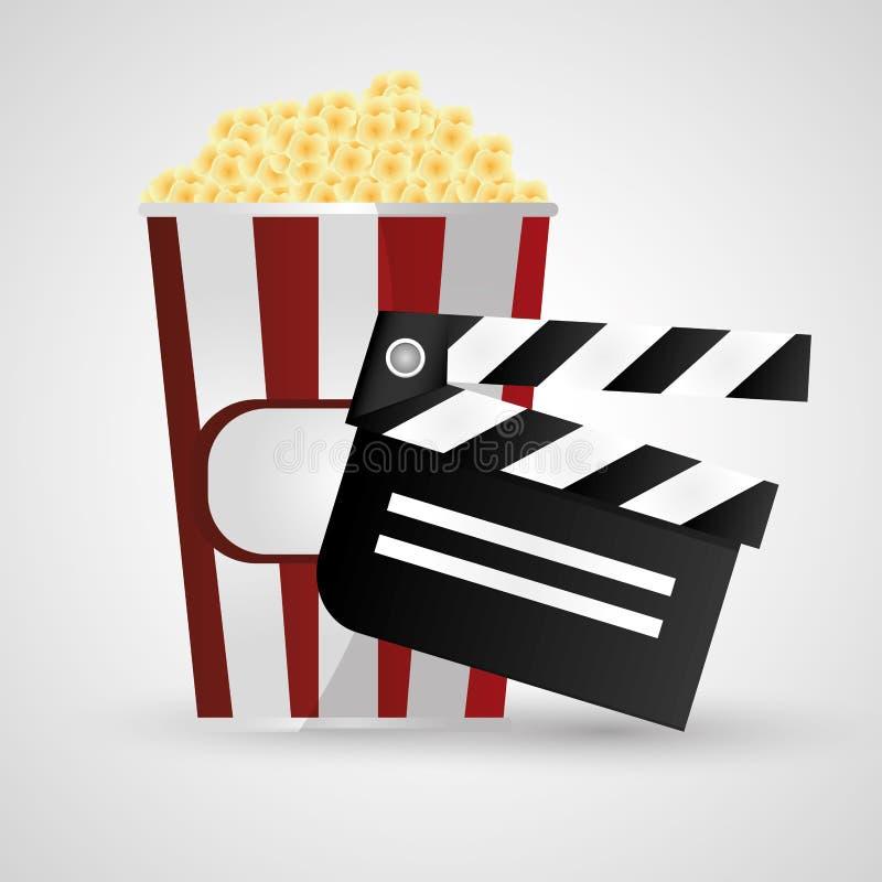 Cinéma de bardeau et conception de film illustration libre de droits