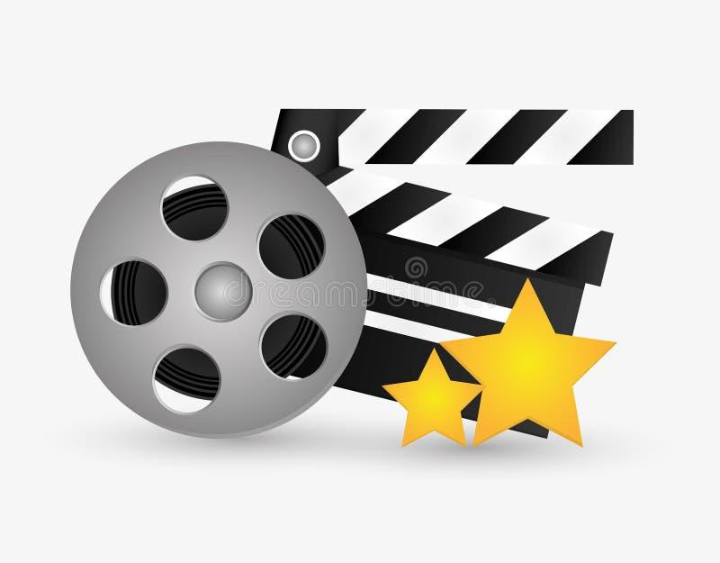 Cinéma de bobine de film et conception de film illustration libre de droits