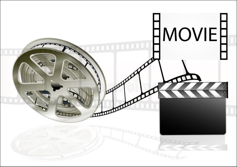 Cinéma de films de film sur le fond blanc illustration libre de droits