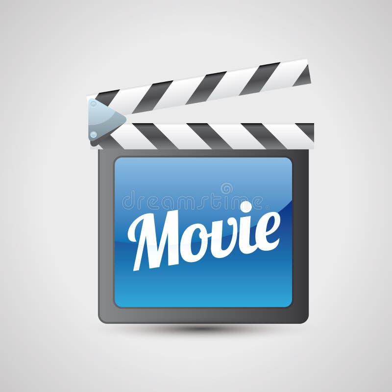 Cinéma de panneau de tape de film   illustration libre de droits