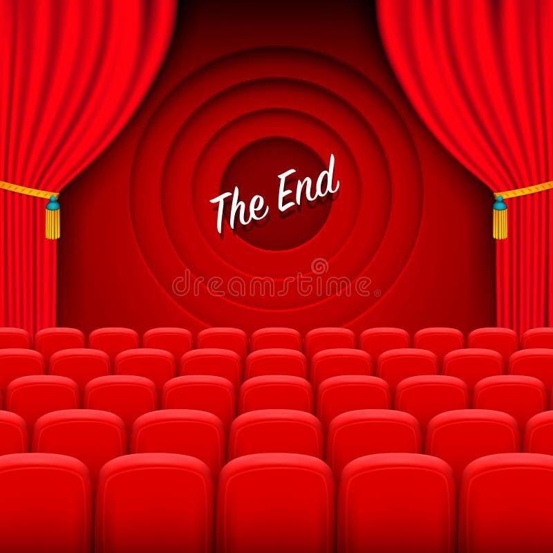 Cinéma de scène le fond d'extrémité illustration stock