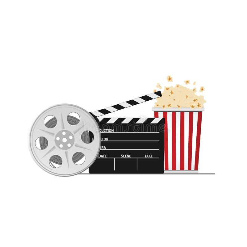 Cinéma et illustration de vecteur de substance de film illustration libre de droits