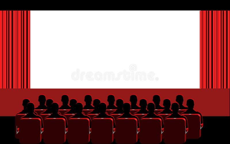 Cinéma - pièce rouge illustration de vecteur
