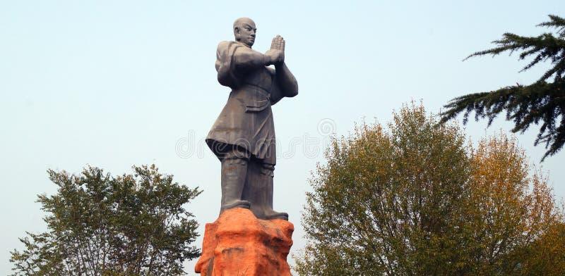 Cina: la scultura di un maestro di Shaolin a Dengfeng immagini stock libere da diritti