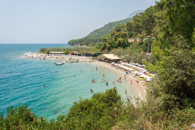 Cinar-Strand nahe Akyaka-Dorf in Mugla-Provinz von der Türkei stockfotos