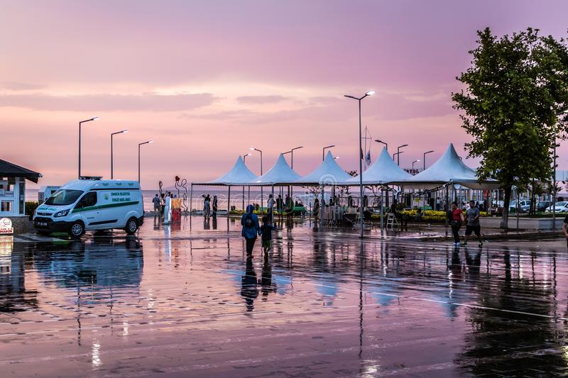 Summer Vacation Town After Heavy Rainfall - Turkey royalty free stock image