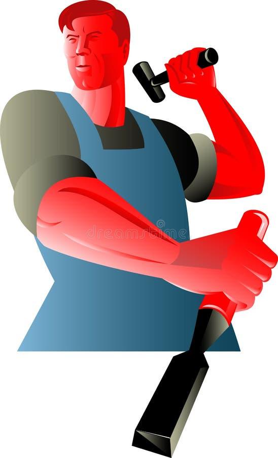 Cincel del trabajador del comerciante del carpintero libre illustration