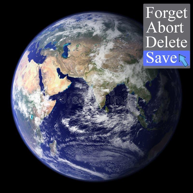 Cincept salva el mundo imagen de archivo