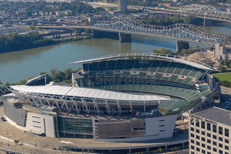 Cincinnati Bengals home based Paul Brown Stadium stock photo