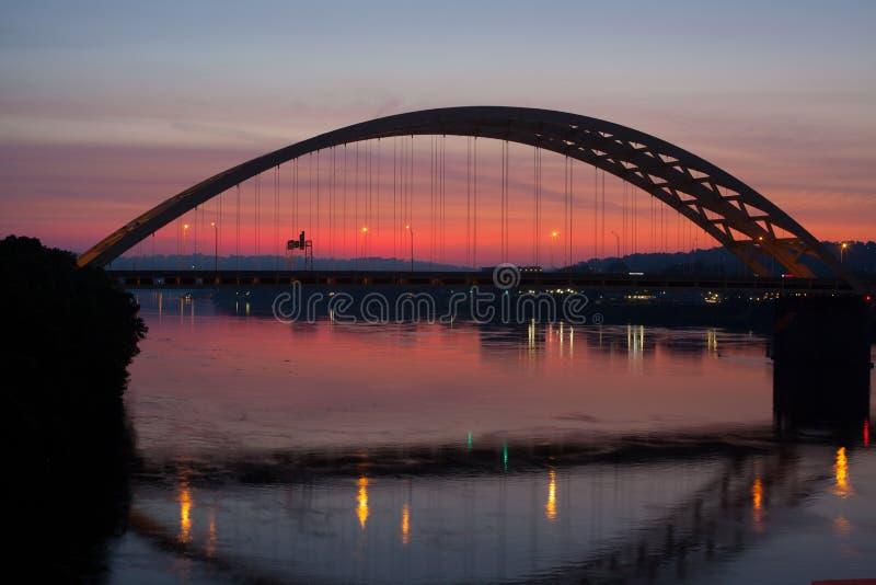 Cincinnati Bridge Stock Photo