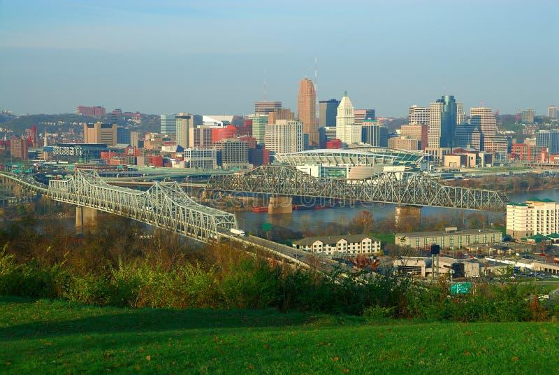 Cincinnati céntrica Ohio imagenes de archivo
