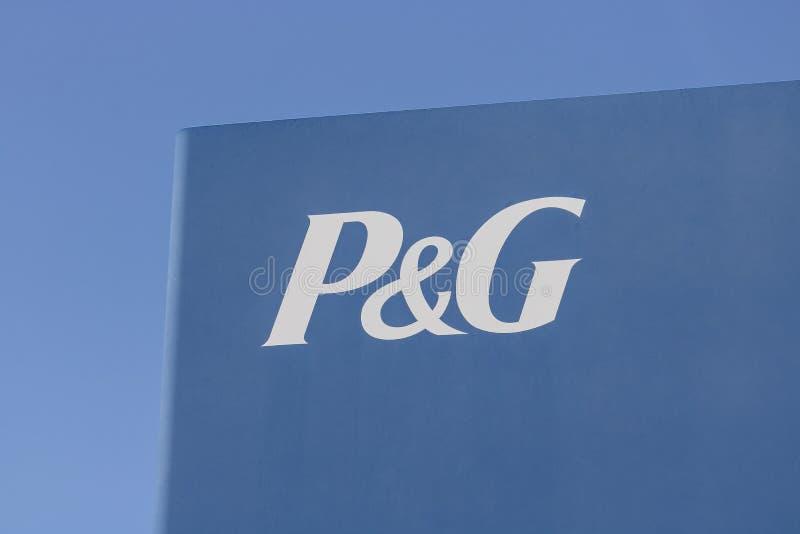 Cincinnati - cerca do maio de 2017: Logotipo e Signage de Procter & Gamble P&G é um Multinacional americano Bens de consumo Empre fotos de stock