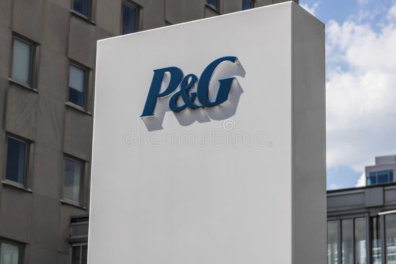 Cincinnati - cerca do maio de 2017: Matrizes incorporadas de Procter & Gamble P&G é um Multinacional americano Bens de consumo Em fotos de stock