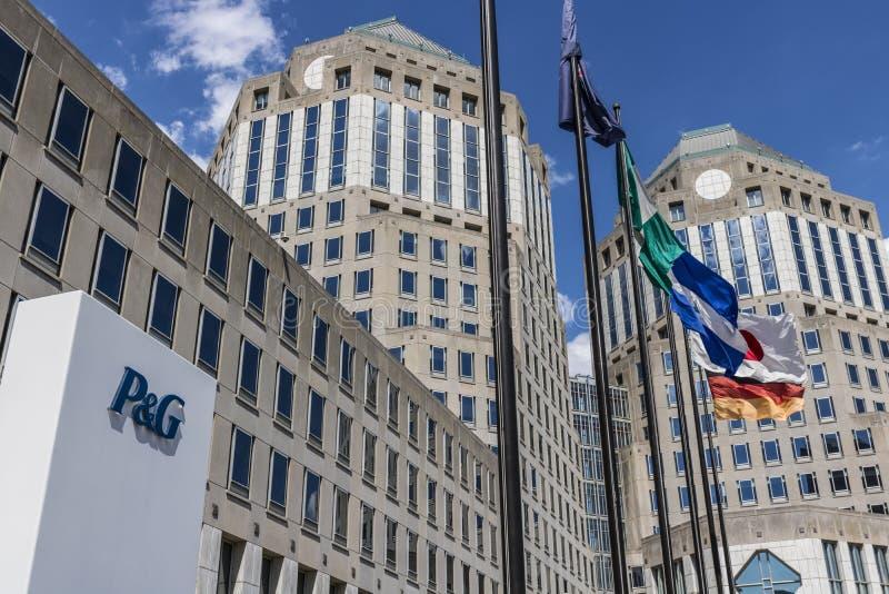Cincinnati - cerca do maio de 2017: Matrizes incorporadas de Procter & Gamble P&G é um Multinacional americano Bens de consumo Em foto de stock royalty free