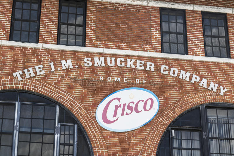 Cincinnati - Circa May 2017: J. M. Smucker Company factory, Smuckers manufactures jams, jellies and a variety of food items I. J. M. Smucker Company factory royalty free stock image