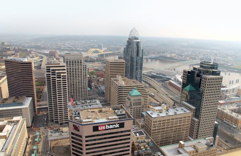 Cincinnati del centro immagini stock