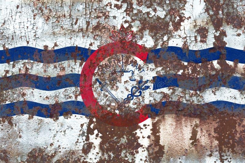 Cincinnati miasta dymu flaga, Ohio stan, Stany Zjednoczone Ameryka zdjęcia royalty free