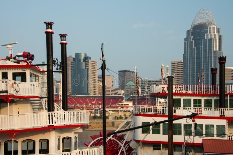 Cincinnati Ohio ad alba immagine stock libera da diritti
