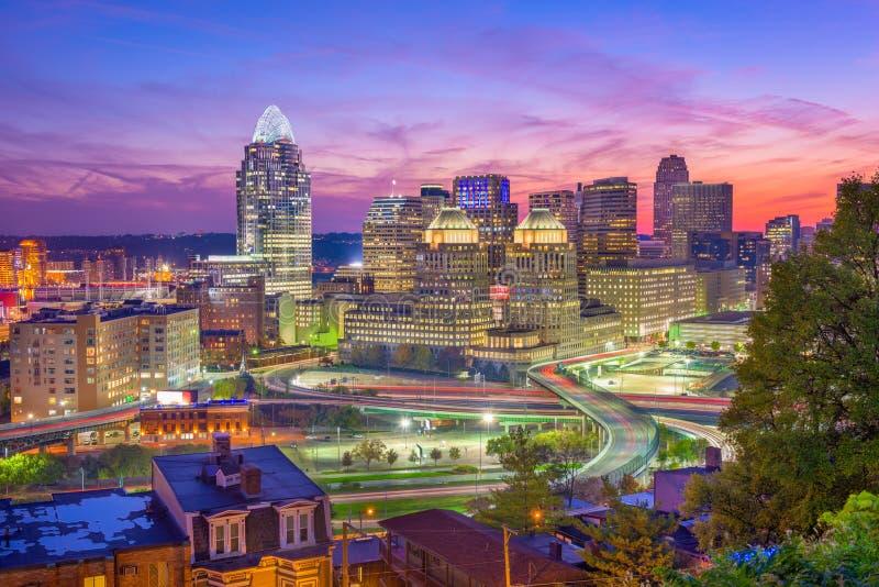 Cincinnati, Ohio, orizzonte di U.S.A. fotografia stock libera da diritti